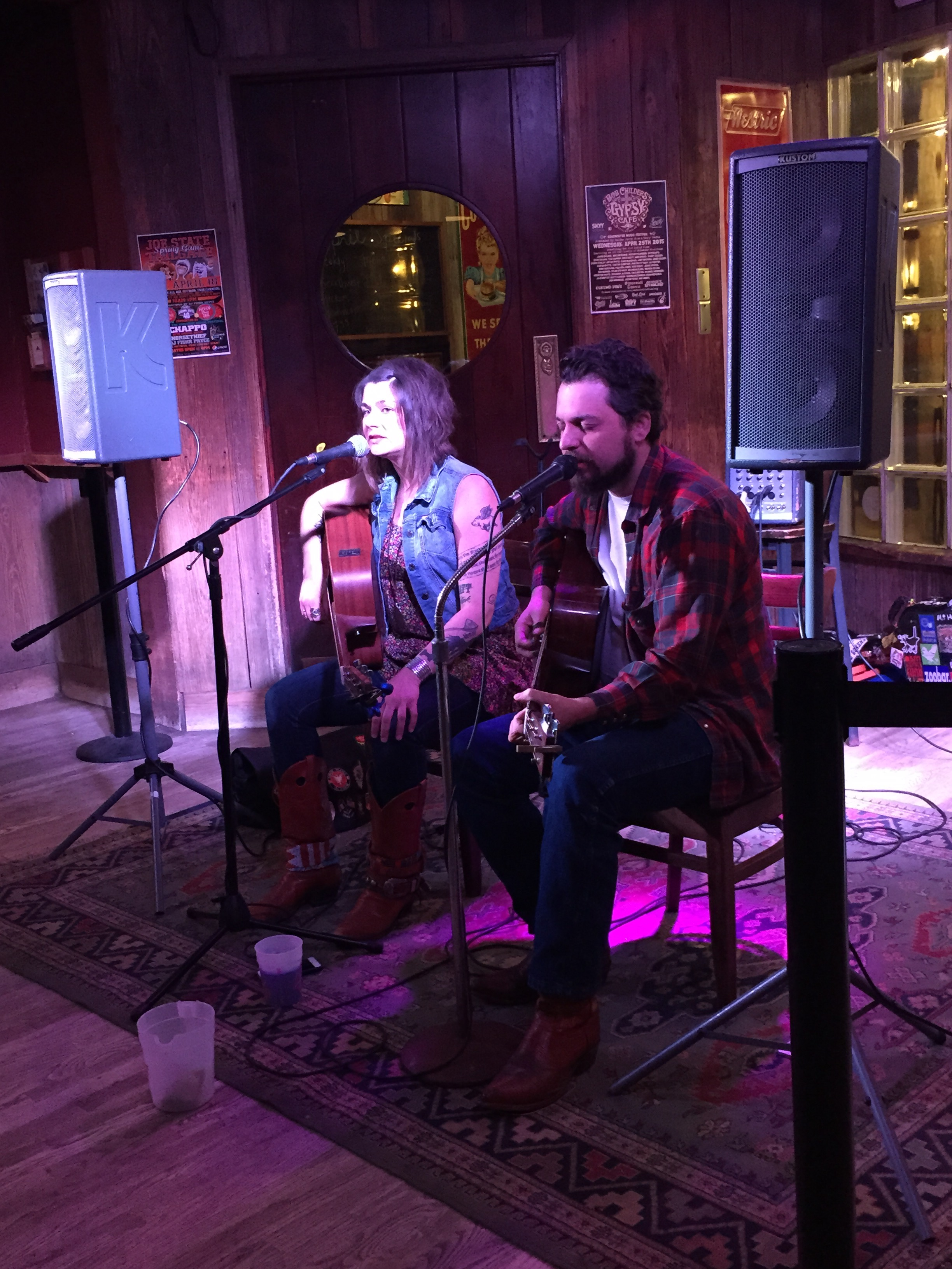 Luck & prayers: Musicians Ali Harter and Wink Burcham work for health care as parents